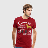 Men's Premium T-Shirt I Love my Golden Retriever White