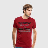 Men's Premium T-Shirt Builders-Screw the rest bricklayer