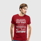 Men's Premium T-Shirt Grandpa Guitars