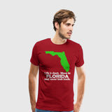 Men's Premium T-Shirt Life is Short Move to Florida white