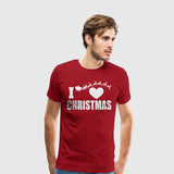 Men's Premium T-Shirt I Heart Christmas