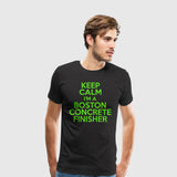 Men's Premium T-Shirt Builders-Boston concrete finisher