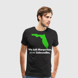 Men's Premium T-Shirt Fla We Salt Margaritas not Sidewalks white