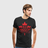 Men's Premium T-Shirt This Canadian Loves Running