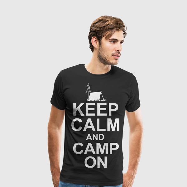 Men's Premium T-Shirt Camping-Keep calm and camp on