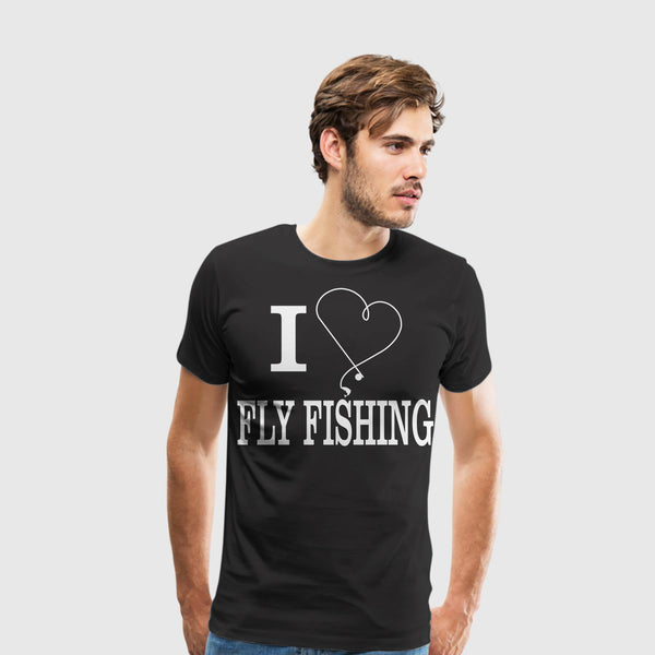 Men's Premium T-Shirt I Heart Fly Fishing