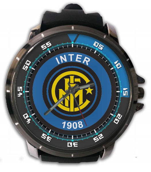 Hot New Design INTER Art 1 Custom Sport Wristwatch Sport Big Face Rubber Band
