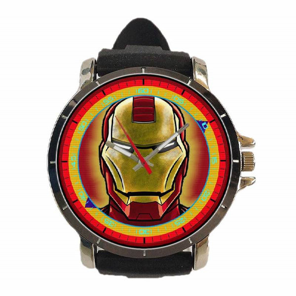 Hot New Design SUPERHERO Art 4 Custom Sport Wristwatch Sport Big Face Rubber Band