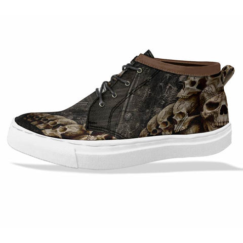 SKULL Custom Sneaker Canvas Shoes Unisex Full Print Sublimation ART 1