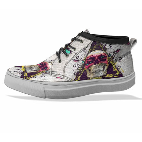 SKULL Custom Sneaker Canvas Shoes Unisex Full Print Sublimation ART 9