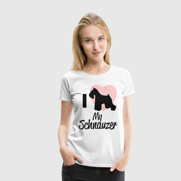 Women Premium T-Shirt I Heart My Schnauzer