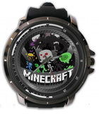 Hot New Design MINECRAFT Art 1 Custom Sport Wristwatch Sport Big Face Rubber Band
