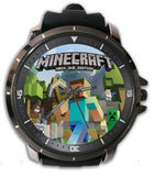 Hot New Design MINECRAFT Art 2 Custom Sport Wristwatch Sport Big Face Rubber Band