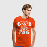 Men's Premium T-Shirt I Love My Pug