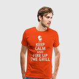 Men's Premium T-Shirt Fire up the grill