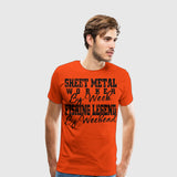 Men's Premium T-Shirt Fishing Legend by Weekend
