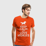 Men's Premium T-Shirt Keep calm and love horses