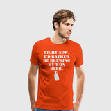 Men's Premium T-Shirt Brewing my own
