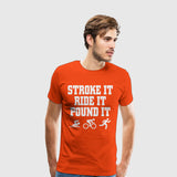 Men's Premium T-Shirt Fitness-Shake it ride it pound it