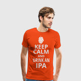 Men's Premium T-Shirt Keep Calm Drink IPA