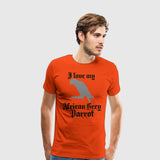 Men's Premium T-Shirt African Grey Parrot