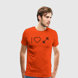 Men's Premium T-Shirt I Heart Dumbells