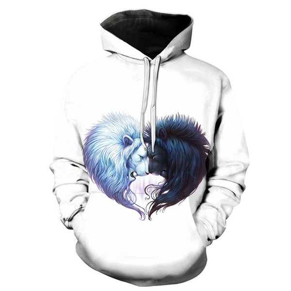 Hot Sale Lion 3D FullPrint Men WOMEN PullOver Hoodies