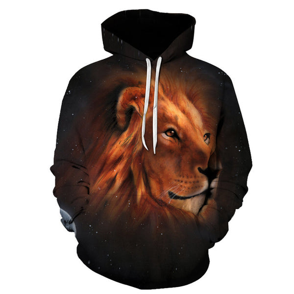 Space Lion Printed 3d Sweatshirts Men Women PullOver Hooded