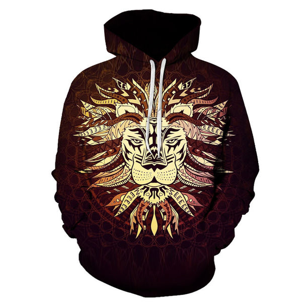 Tribal Chiefs Lion King 3D Full Print Sublimation PullOver Hoodie