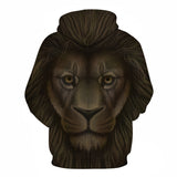 Animal Hoodies Lion 3D Sweatshirts Men Women PullOver Hoodie