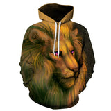 Funny Lion 3D FullPrint Sublimation Men Women PullOver Hoodie