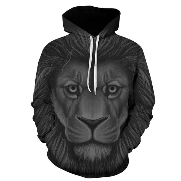 Fashion New LION 3D FullPrint Sublimation Men Women PullOver Hoodie