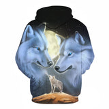 WOLF 3D Full Print Sublimation Men Women PullOver Size S To 6XL