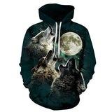 WOLF 3D Printed Men Women Hoodies Pullover Size S To 6XL