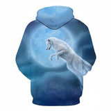 WOLF Hoodies 3D Sweatshirts Men Women Hooded Pullover Unisex Size S To 6XL