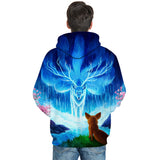 WOLF Cartoon Pattern Hoodies Men Women Sweatshirts 3D FullPrint PullOver Size S To 6XL
