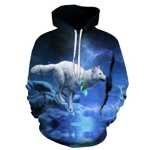 WOLF Men Women 3D Hoodie FullPrint Sublimation PullOver Hoodie Size S To 6XL