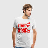 Men's Premium T-Shirt Horseback Riding