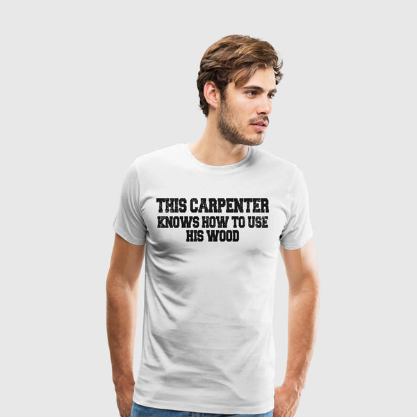 Men's Premium T-Shirt Builders-This carpenter