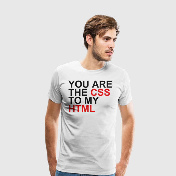 Men's Premium T-Shirt Css To My Html