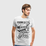 Men's Premium T-Shirt Parents Heaven in my home black