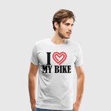 Men's Premium T-Shirt Biking-I Heart My Bike
