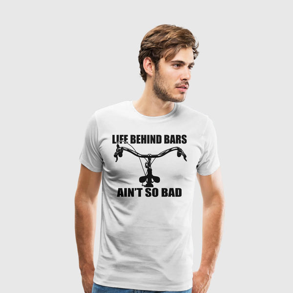 Men's Premium T-Shirt Biking-Life Behind Bars