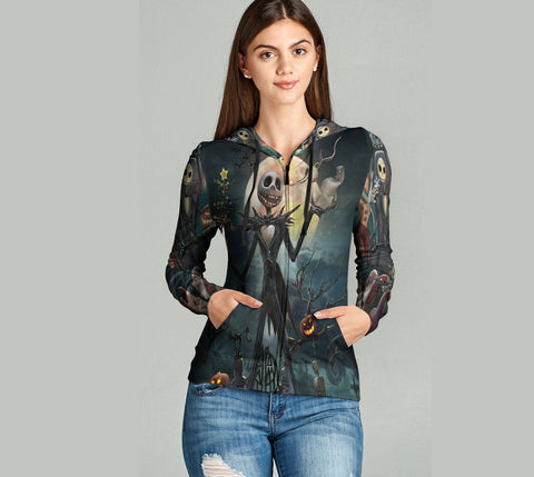 The Nightmare Before Christmas 3D Full Print Sublimation Women Zipper Hoodie Art 03