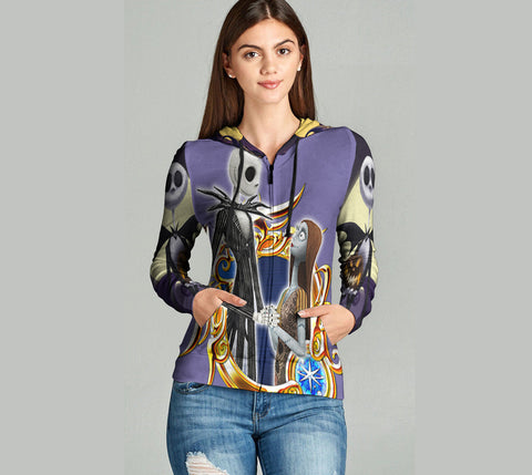 The Nightmare Before Christmas 3D Full Print Sublimation Women Zipper Hoodie Art 08