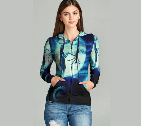 The Nightmare Before Christmas 3D Full Print Sublimation Women Zipper Hoodie Art 05