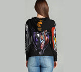 Nightmare Before Christmas 3D Full Print Sublimation Women Zipper Hoodie Art 02