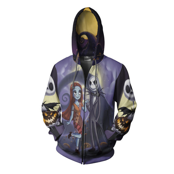 The Nightmare Before Christmas 3D Full Print Sublimation Men Zipper Hoodie Art 06