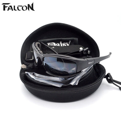 New Daisy X7  Military Goggles 4 Lenses REVO Army Sunglasses Tactical Glasses Eye shield Shooting