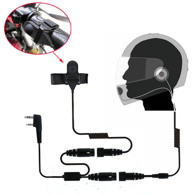 Motorcycle Full Face Helmet Headset Earpiece for Two Way Radio Baofeng Walkie Talkie UV-5R UV-5RA Plus BF-888S GT-3 GT-3TP Mark